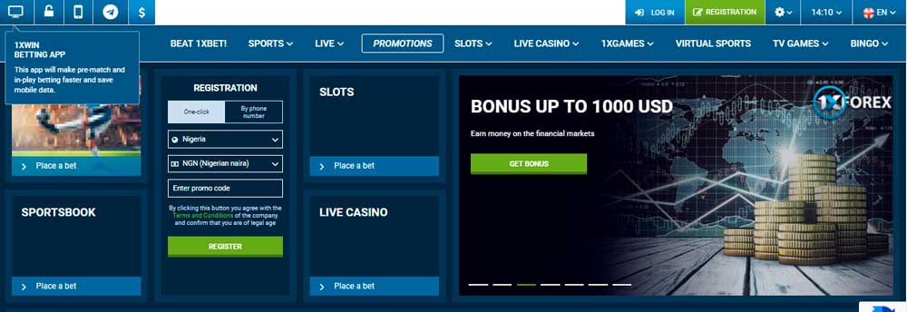 how to get 1xbet promo code